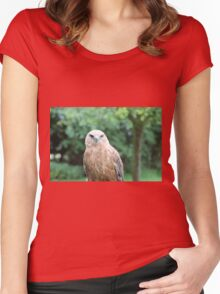 You lookin' at me? Women's Fitted Scoop T-Shirt