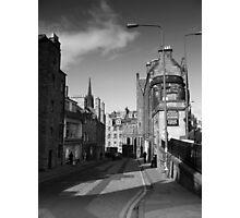 Edinburgh Candlemakers Row Mono Photographic Print