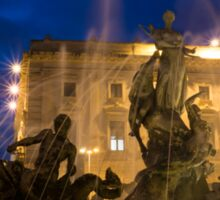 Syracuse, Sicily Blue Hour - Fountain of Diana on Piazza Archimede Sticker