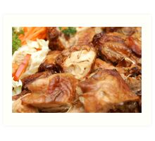 Chicken with Vegetables Art Print
