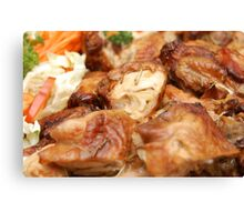 Chicken with Vegetables Canvas Print