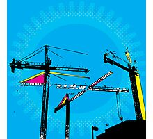 Pop-Art Construction illustration Photographic Print