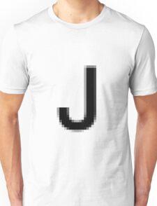 Pixelated Letter J Unisex T-Shirt