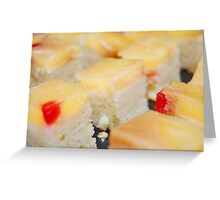 Row of Fruit cakes Greeting Card