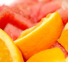 fruits: orange and watermelon by walterericsy