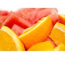 fruits: orange and watermelon Photographic Print