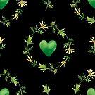- Green heart pattern (black) - by Losenko  Mila