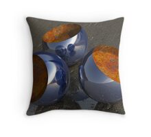 Abstract Bowls Throw Pillow