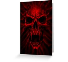 red skull Greeting Card