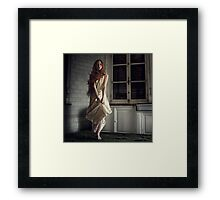 Silence Behind The Shadow  Framed Print
