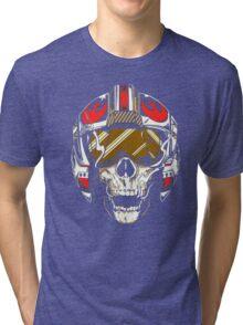 X-Wing Skull Helmet T-Shirt Tri-blend T-Shirt