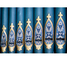 The Blue Pipes Photographic Print
