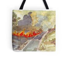 Veldfire in Magaliesburg Tote Bag