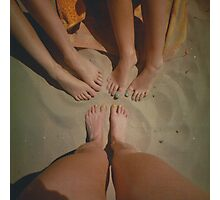 at the Beach with Friends Photographic Print