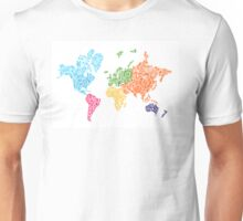 Steampunk Map of the World Unisex T-Shirt