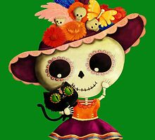 The Day of The Dead Sugar Skul Girl by colonelle