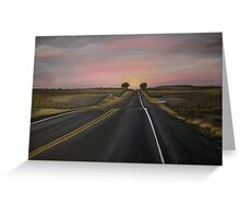 The road to wherever you want Greeting Card