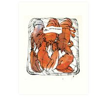 Lobster illustration for foodie magazine. Art Print