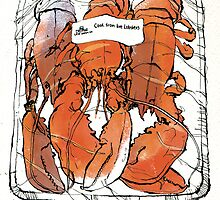 Lobster illustration for foodie magazine. by Tracer  Bullitt
