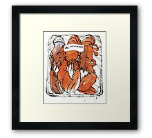 Lobster illustration for foodie magazine. Framed Print