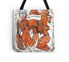 Lobster illustration for foodie magazine. Tote Bag