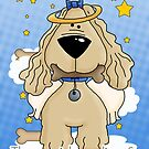 Death of a Dog Sympathy Card - Loss Of Pet Dog - Dog Angel by Moonlake