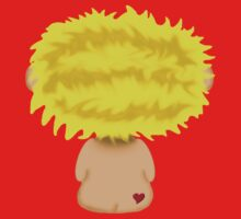Blond Headed Boy with a heart on his cheek Kids Tee