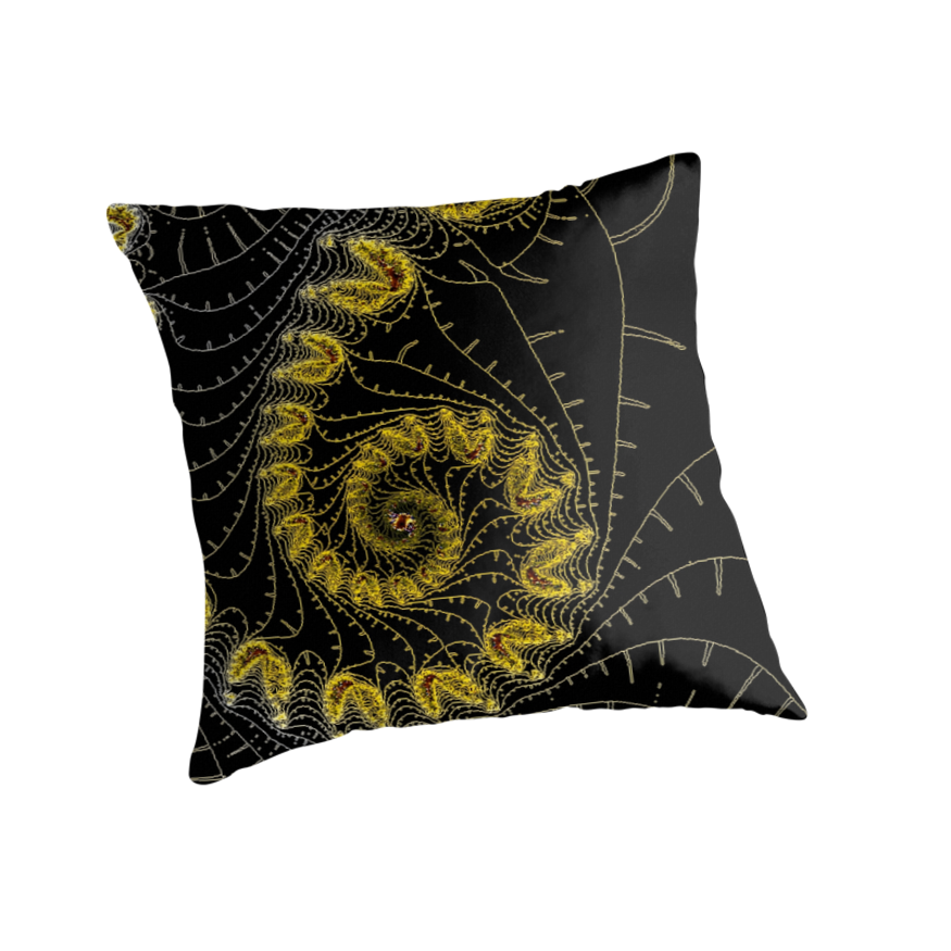 Yellow And Black Decorative Pillows :