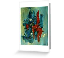 Red stroke Greeting Card
