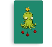 Christmas cephalopod Canvas Print