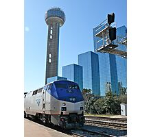 Engine #59 Pulls Amtrak #21 Into Dallas Texas Photographic Print