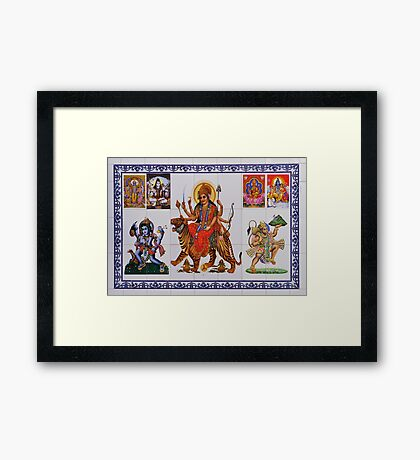 an indian puzzle Framed Print