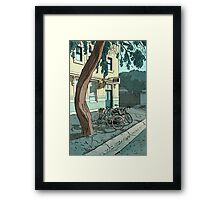 bicycles at the Hotel Framed Print