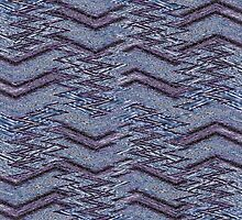 Zigzag blue pattern by RosiLorz
