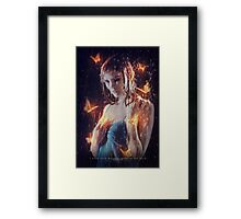 I hear your whisper through the rain Framed Print