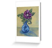 Kitschy Rose Still Life Greeting Card