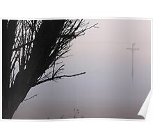 Early morning mist Poster