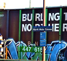 BNSF Close Up by Stephen Burke