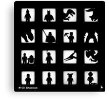 16 Shadows already (B&W Edition) Canvas Print