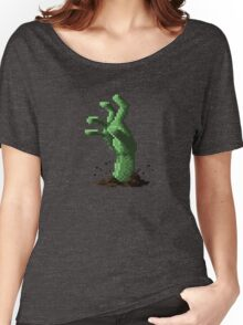 Zombie Grasp Pixels Women's Relaxed Fit T-Shirt