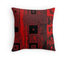 Nested Squares in Red & Black Throw Pillow