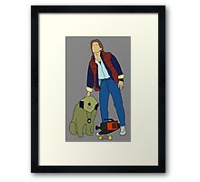 Back To The Future Marty & Einstein  Framed Print
