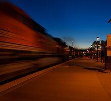 BNSF Railway in Motion by Stephen Burke