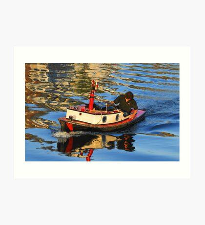 Small boat... Art Print