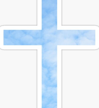 Sky background christian cross sticker Sticker