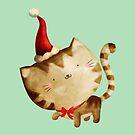 Cute Christmas Cat  - Santa's Helper by colonelle