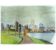 Vancouver, watercolor on yupo paper Poster