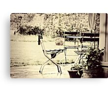Table & Chairs Canvas Print