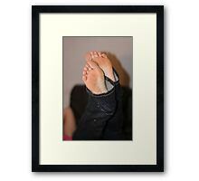 Jeans and feet I Framed Print