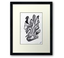 0411 - Graues Spiel with Black Touches Framed Print
